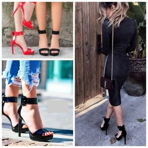 Steve Madden - New Black Suede Ankle Strap Sandals